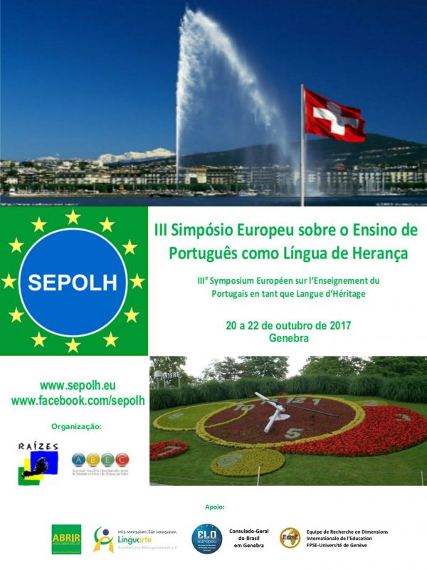 III Simpósio Europeu sobre o Ensino de português como Língua de Herança
